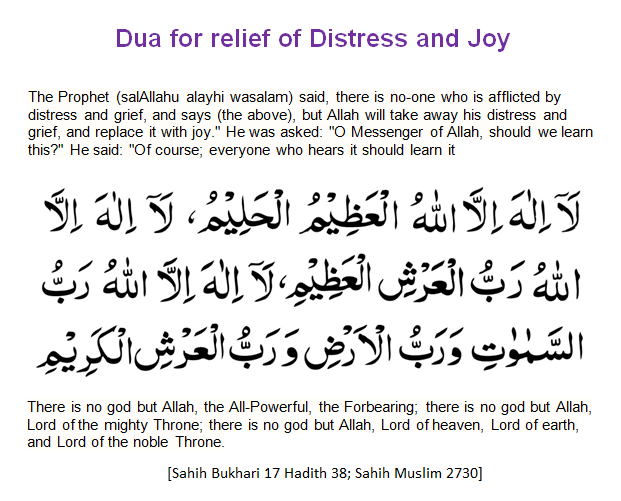 Dua For Relief Of Distress & Joy