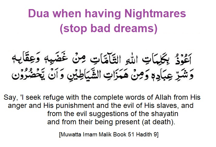 Dua when having Nightmares