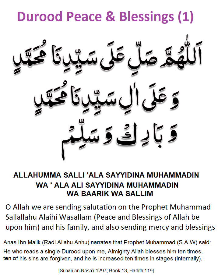 Durood Peace & Blessings (1)