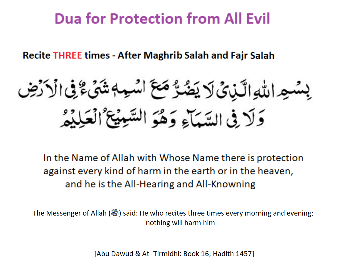 Dua for Protection from All Evil